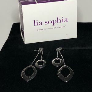 Lia sophia two part drop dangle earrings